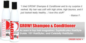 GROW! Shampoo & conditioner for fast hair growth