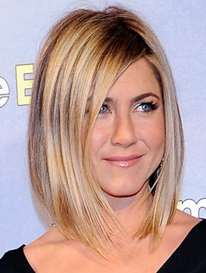 Jennifer Aniston Long Angled Bob