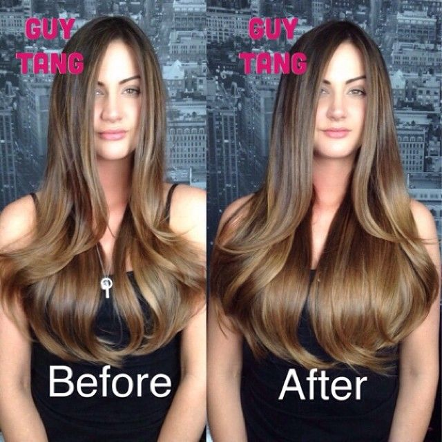 Ombre Hair Extensions Before And After Human Hair Extensions