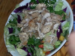 Chicken Protein Salad for Healthy Hair and Skin