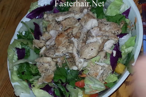Protein Salad Recipe for Healthy Hair and Skin