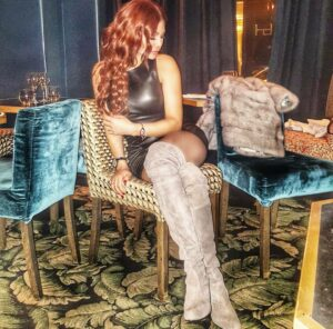 Haifa Wehbe Red Hair Color